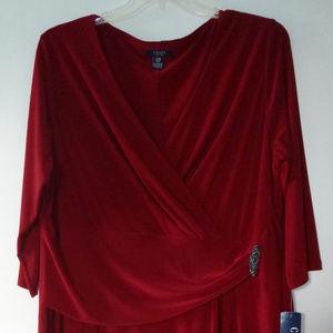 Chaps red dress size 22W NWT